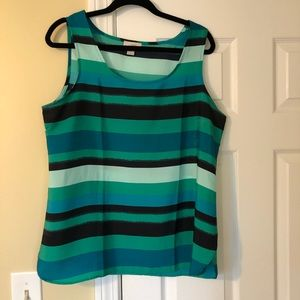Blue striped blouse from Loft